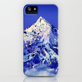 Everest after sunset. Holy mountain iPhone Case