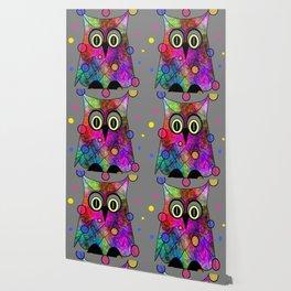 Psychedelic Owl Wallpaper