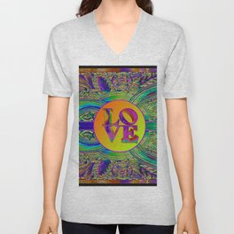 LOVE IN THE TIME OF ART DECO Unisex V-Neck