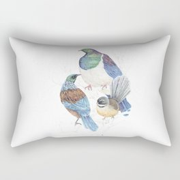 thee birds in a tree Rectangular Pillow