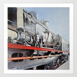 Máquina de vapor Art Print