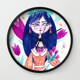 Miss Tulip Wall Clock