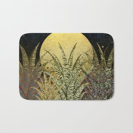 """Golden aloe Zebra midnight sun"" Bath Mat"