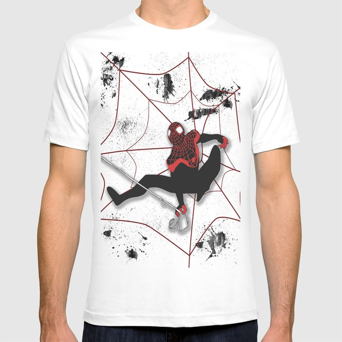1aca329d Ultimate Spider-man Miles Morales T-shirt by valeriesalmon | Society6