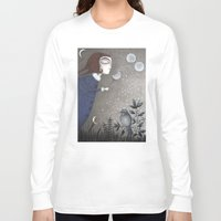 twilight Long Sleeve T-shirts featuring Winter Twilight by Judith Clay