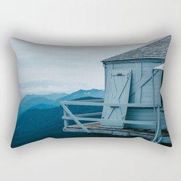 Blue Hour Fire Lookout Rectangular Pillow