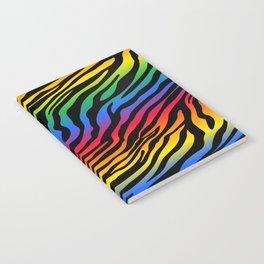 Zazzy Zebras - Rainbow Notebook