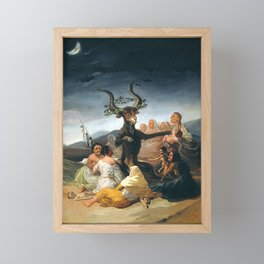 THE SABATH OF THE WITCHES - GOYA Framed Mini Art Print