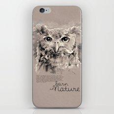 Owl (BornInNature) iPhone Skin