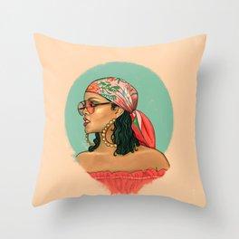 Rihanna Wild Thoughts Portrait Throw Pillow