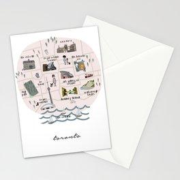 Toronto City Map Stationery Cards