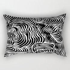 black flow Rectangular Pillow