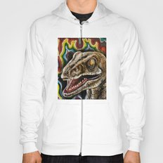 Rainbow Raptor:: Colorful Dinosaur Hoody