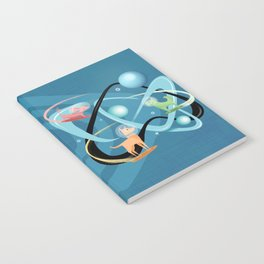 Atomic Rocket Powered Space Dogs Notebook