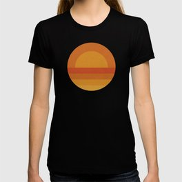 Retro Geometric Sunset T-shirt