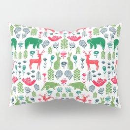Christmas woodland scandinavian folk animals forest nature pattern gifts Pillow Sham