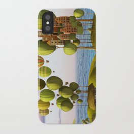 City in the Sky_Lanscape Format iPhone Case