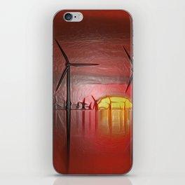 Windmills in the Sun (Digital Art) iPhone Skin