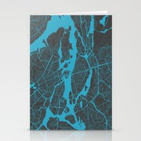 stockholm Stationery Cards featuring Stockholm Map by Map Map Maps