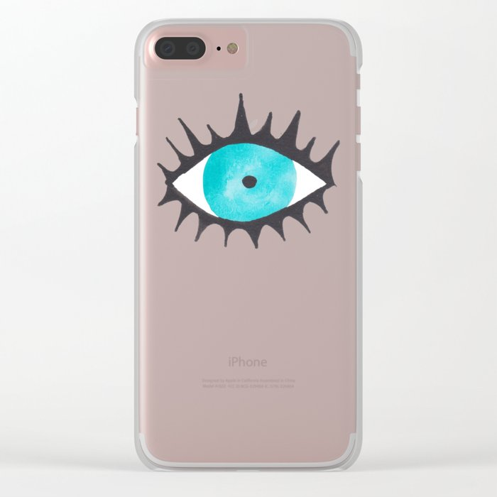 Evil Eye IV Clear iPhone Case
