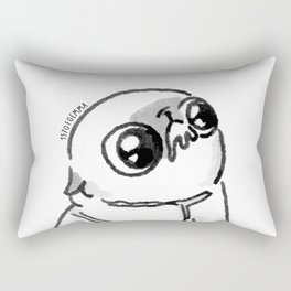 Mochi the pug begging Rectangular Pillow