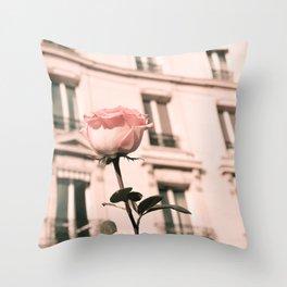 Paris in Blush Pink II Throw Pillow