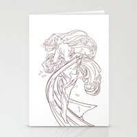 mucha Stationery Cards featuring Mucha Inspired by Jon Cain