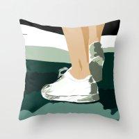 feet Throw Pillows featuring Feet by Berta Merlotte