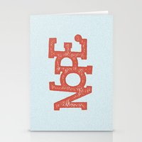 nope Stationery Cards featuring NOPE. by Josh LaFayette