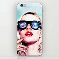 iggy azalea iPhone & iPod Skins featuring Iggy Azalea- Blue  by Tiffany Taimoorazy