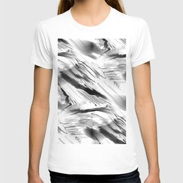 Modern Abstract - Black and White T-shirt
