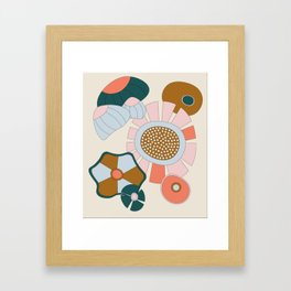 Abstract Graphic Flower Print 2 Framed Art Print