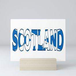 Scotland Font with Scottish Flag Mini Art Print