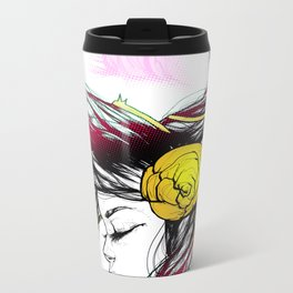 Rose Thorn Metal Travel Mug