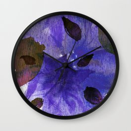 Watercolor Purple Mirage Wall Clock