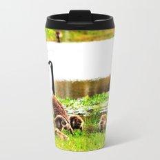 Canada Goose and Goslings Travel Mug