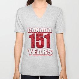 Canada 151 Years Anniversary - Canada Day Unisex V-Neck