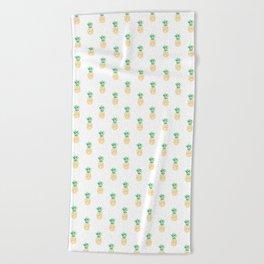 Summer Pineapple Beach Towel