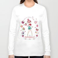 cupcakes Long Sleeve T-shirts featuring Cupcakes by Meldoodles