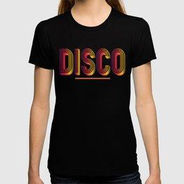 Disco Neon Colors 1970s Disco Funk Vintage Retro Neon Light Funky T-shirt