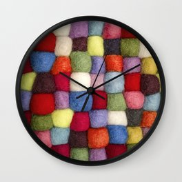 Colorful pattern of cotton balls Wall Clock