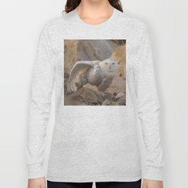 Snowy Owl Stretching Long Sleeve T-shirt