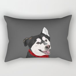 Floki the Husky Shepherd Lab Rectangular Pillow