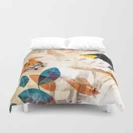 The Raven nad the Fox Duvet Cover
