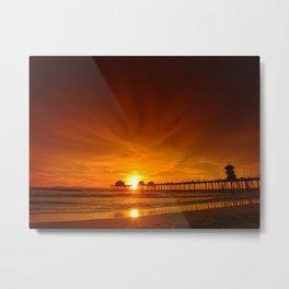 Wispy Orange Sunset Metal Print
