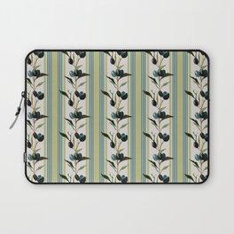Olive Stripes - Green Sand Beige Blue Laptop Sleeve