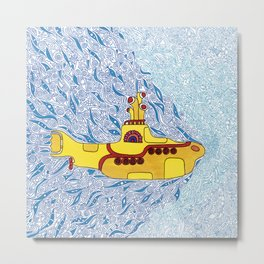 My Yellow Submarine Metal Print
