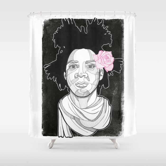 Basquiat Shower Curtain By Doncarlos