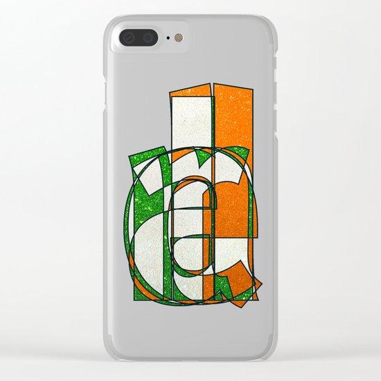 IRELAND - Glitter Clear iPhone Case