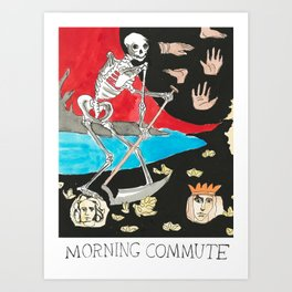 Morning Commute x Judgmental Deck Art Print